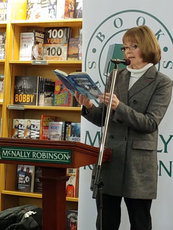 Bev reading at McNally Robinson, Saskatoon, Saskatchewan